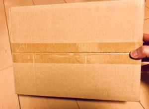 プライバシー梱包の下からの写真