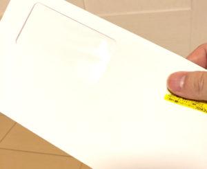 チャップアップから届いたダイレクトメール窓付封筒
