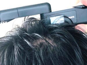 チャップアップを塗布した頭皮をにおいチェッカーで測定